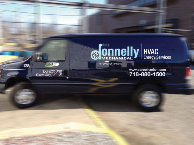 Donnelly Mechanical Van with HVAC ENGIE Logo