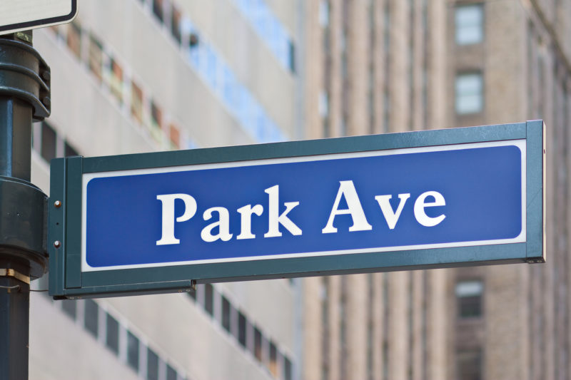 Park Ave NYC Street Sign