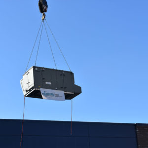 Commercial HVAC Rig at Basketball City Project