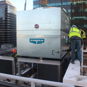 Large HVAC installation in nyc