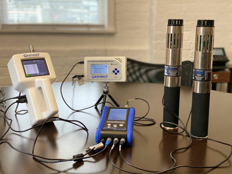 Gray Wolf Indoor Air Quality Monitoring Setup