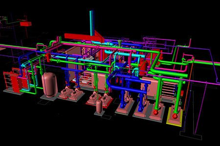 BIM Mechanical Room HVAC