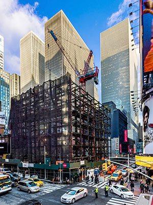 Construction Crane for HVAC Commercial Buildings