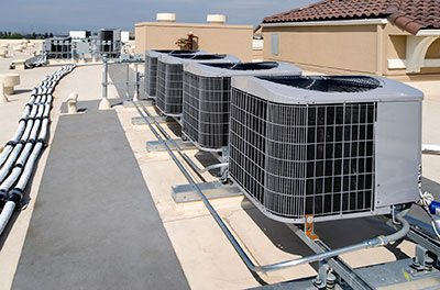 air conditioning system on New York City commercial building
