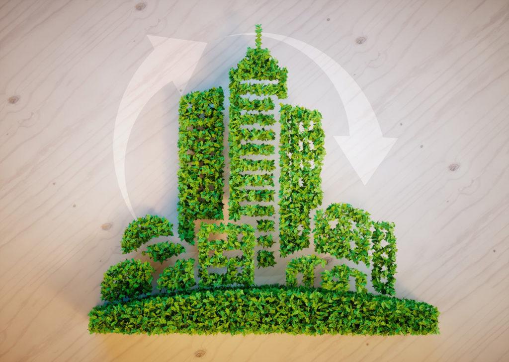 green efficiency city concept