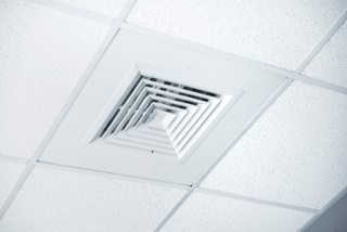 air conditioning vent in office building