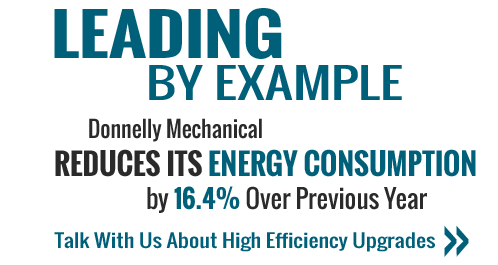 Donnelly Mechanical Reduces Its Energy Consumption by 16.4 % Over Previous Year