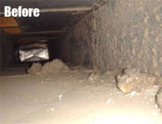Before Indoor Air Quality and Ventilation Service