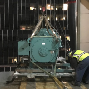 electric chiller installation