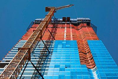 commercial HVAC construction site