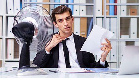 Office Temperature Drop