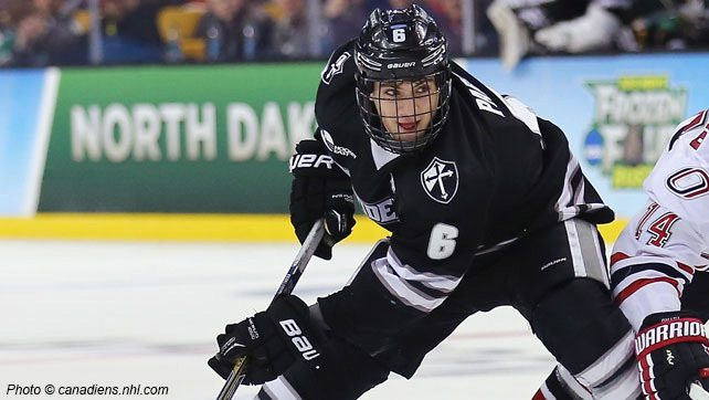 Tom Parisi playing Hockey